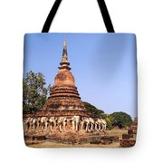 Elephant Chedi Historical Place Tote Bag