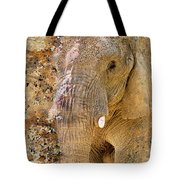 Elephant Color Splash Tote Bag