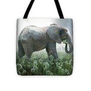 Elephant Eating Onions Tote Bag