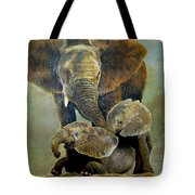 Elephant Familly Tote Bag