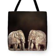 Elephant Figures Tote Bag