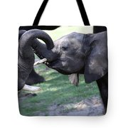 Elephant Greeting II Tote Bag