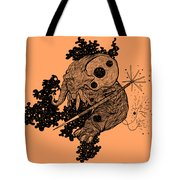Elephant In Outer Space Tote Bag