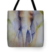Elephant In The Grass Tote Bag
