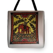 Elephant In The Jungle Tote Bag