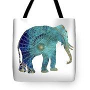 Elephant Maps Tote Bag