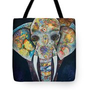 Elephant Mixed Media 2 Tote Bag