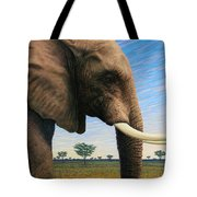 Elephant On Safari Tote Bag