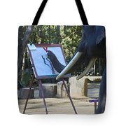 Elephant Painting Tote Bag