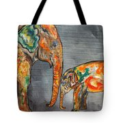 Elephant Play Day Tote Bag