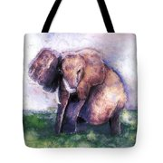 Elephant Poised Tote Bag
