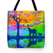 Elephant Reflections Tote Bag