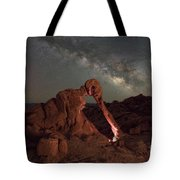 Elephant Rock Milky Way Galaxy Tote Bag
