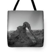 Elephant Rock Sunrise Bw  Tote Bag