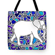 Elephant Rocker Blue Magoo Tote Bag