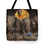 Elephant Run Tote Bag