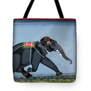 Elephant & Trainer, C1750 Tote Bag