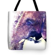 Elephant Watercolor Painting Tote Bag