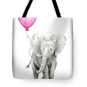 Baby Elephant Watercolor  Tote Bag