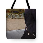 Elephants And Businessman Tote Bag