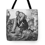 Elephants And Tiger, 1890 Tote Bag