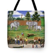 Elephants At The Zoo Tote Bag