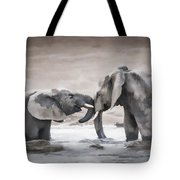 Elephants From Africa Tote Bag