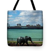 Elephants Go A Marching  Tote Bag