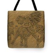 Elephants Three Tote Bag