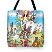 Elephants,cats And Rabbit Dreams Tote Bag
