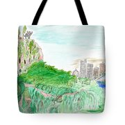 Elephoot And Friends In Satpura Mountains In India Tote Bag