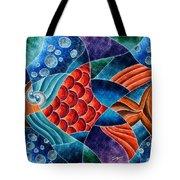 Eletric Fish Tote Bag
