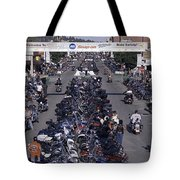 Elevated Panoramic View Of Main Street Tote Bag