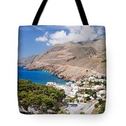 Elevated View Of The Hora Sfakion Tote Bag