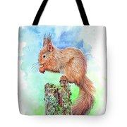 Elevenses - Red Squirrel Tote Bag