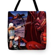Elf Vs Dragon Tote Bag