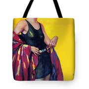 Elida Cremes In Sonne Und See - Woman In Swimsuit - Vintage Advertising Poster Tote Bag