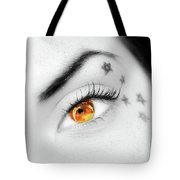 Eclipse And Lashes Tote Bag by Scott Cordell