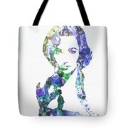 Elithabeth Taylor Tote Bag by Naxart Studio