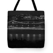 Elizabeth And Liberty Bridges Budapest Bw Tote Bag