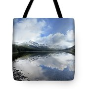 Elizabeth Lake Detail 2 - Glacier National Park Tote Bag