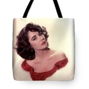 Elizabeth Taylor Diamond Are Forever With Her Collectin Tote Bag