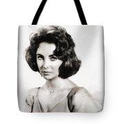 Elizabeth Taylor, Vintage Hollywood Legend By John Springfield Tote Bag