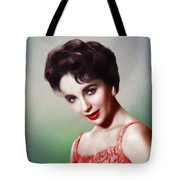 Elizabeth Taylor, Vintage Movie Star Tote Bag