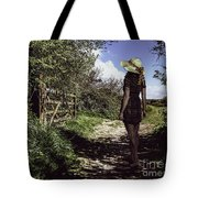Eliza's Walk In The Countryside. Tote Bag