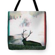 Elk - Use Red-cyan 3d Glasses Tote Bag