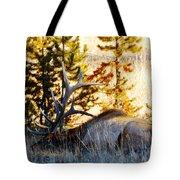 Elk Als Yellowstone Tote Bag