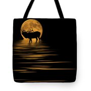 Elk In The Moonlight Tote Bag by Shane Bechler