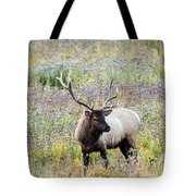 Elk In Wildflowers #1 Tote Bag