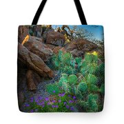 Elk Mountain Flowers Tote Bag by Inge Johnsson